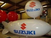 large balloons - 20ft. blimp with Suzuki logo - $1825.00 - plain 20ft. blimp from $1334.00