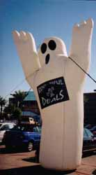Ghost shape Halloween inflatables